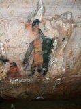 Pintura rupestre olmeca del estado de Guerrero