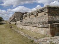 Un edificio de Monte Albán