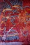 Fresco de la tumba del Cerro de la Campana en Suchilquitongo, a unos 29 km. de la ciudad de Oaxaca hacia el Valle de Etla