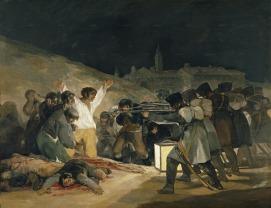 GOYA, Francisco, Los fusilamientos del 3 de mayo, 1814, óleo sobre lienzo, Museo del Prado, Madrid