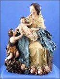 Virgen y el Niño con San Juan Bautista, 1692, terracota policromada