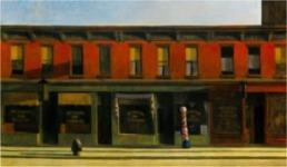 OPPER, Edward, Early Sunday Morning (Temprano, un domingo por la mañana), óleo sobre lienzo, 1930, Whitney Museum of American Art, New York.