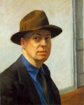 HOPPER, Edward, Autorretrato, 1925-30,  óleo sobre lienzo, 64'5 x 52'4 cm., Whitney Museum of American Art, Nueva York