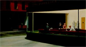 HOPPER, Edward, Nighthawks, 1942, óleo sobre lienzo, 76'2 x 144 cm., The Art Institute of Chicago