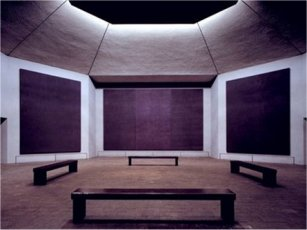 Vista de la capilla Rothko en Houston