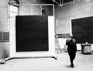 Rothko in his 69th Street studio with Rothko Chapel murals, c. 1964, © Hans Namuth Estate, courtesy Center for Creative Photography, The University of Arizona