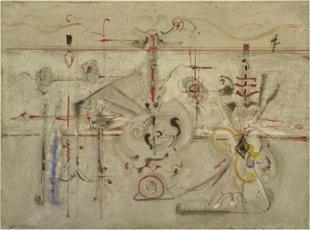 Mark Rothko: 'Ídolo arcaico'. (1945). 55 x 76 cm
